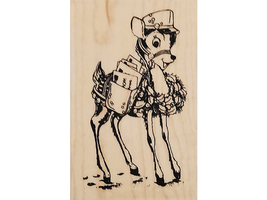 Stampendous 2012 Special Delivery Wood Mounted Rubber Stamp #M269 image 1