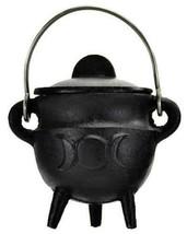 Small TRIPLE MOON Pot Belly Lidded Cauldron! - $17.95