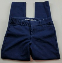 Old Navy Womens Pants Sz 2 Pixie Mid Rise Blue Slacks Dress Pants Career - $17.46