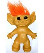 "Vintage Uneeda Troll Doll Orange Hair Plastic Rubber Toy 11"" - $23.99"