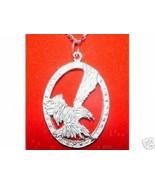NICE Bald American Eagle eye Hawk Falcon Silver Big charm - $62.19