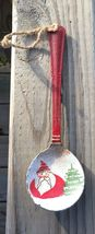 Primitive Wood 17084 Red Spoon Santa Christmas Ornament  - $2.50