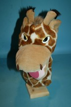 "Aurora GIRAFFE 11"" Hand Puppet Soft Toy Stuffed Zoo Animal Plush Pretend... - $15.45"