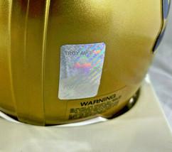 TROY AIKMAN / NFL HALL OF FAME / AUTOGRAPHED UCLA LOGO MINI HELMET / PLAYER COA image 6