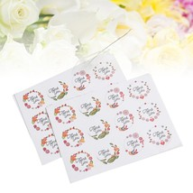 THANK YOU Adhesive Labels Round Decorative Labels for Scrapbooking Wedding - £12.97 GBP
