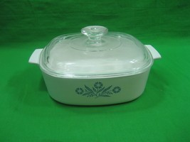 Vintage Corning Ware 2 Quart Blue Cornflower Casserole Dish A-2-B with Lid A9C - $14.92