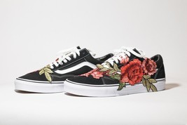 VANS SK8-LOW Original Custom 'Rose Bush' Premium Edition available in all sizes - $185.00