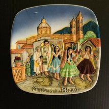 """Royal Doulton Christmas In Mexico John Beswick Limited 1973 Plate Plaque 8.25"""" - $15.83"""