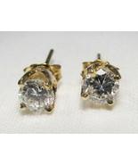 .54tcw 14K Yellow Gold Diamond Stud Earrings C1069 - $477.77