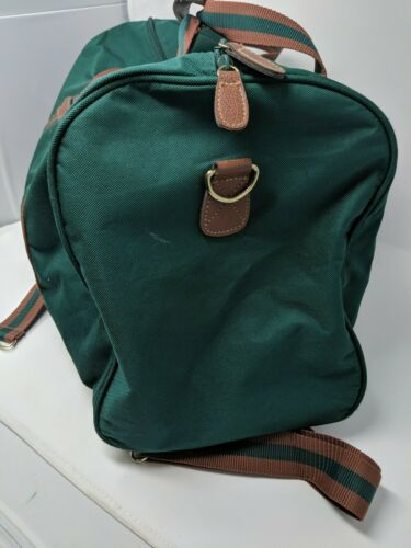 Polo Ralph Lauren Green Canvas Overnight Weekender Duffle Duffel Travel Bag VTG