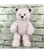 Build A Bear Workshop Pink Teddy Bear Plush Shaggy Soft Heart Accents 16... - $14.84