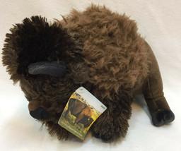 Bison Plush Stuffed Animal Brown Custer State Park South Dakota Souvenir Toy - $8.90