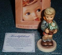 """Lucky Charmer"" Goebel Hummel Figurine #2071 With Box Boy With Horse Shoe! - $63.04"