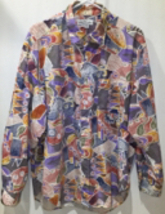 Vintage 80s GUESS Georges Marciano abstract Print Button Up Shirt Mens Sz M - $34.99