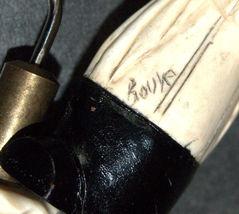 Corkscrew Vintage Carved Wood Marble 2 Faces Signed BOUYE Hidden Worm 128 gr image 7