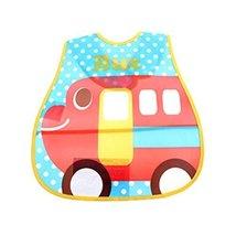 Waterproof Adjustable Baby Bibs for Baby , 4528cm, Cool Car