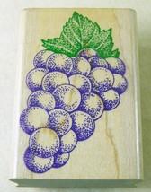 "Inkadinkado BUNCH OF GRAPES Rubber Stamp 1.5 x 2.5"" #4243 - $2.99"