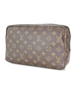 Authentic LOUIS VUITTON Trousse Toilette 28 Monogram Cosmetics Pouch #33719 - $195.00