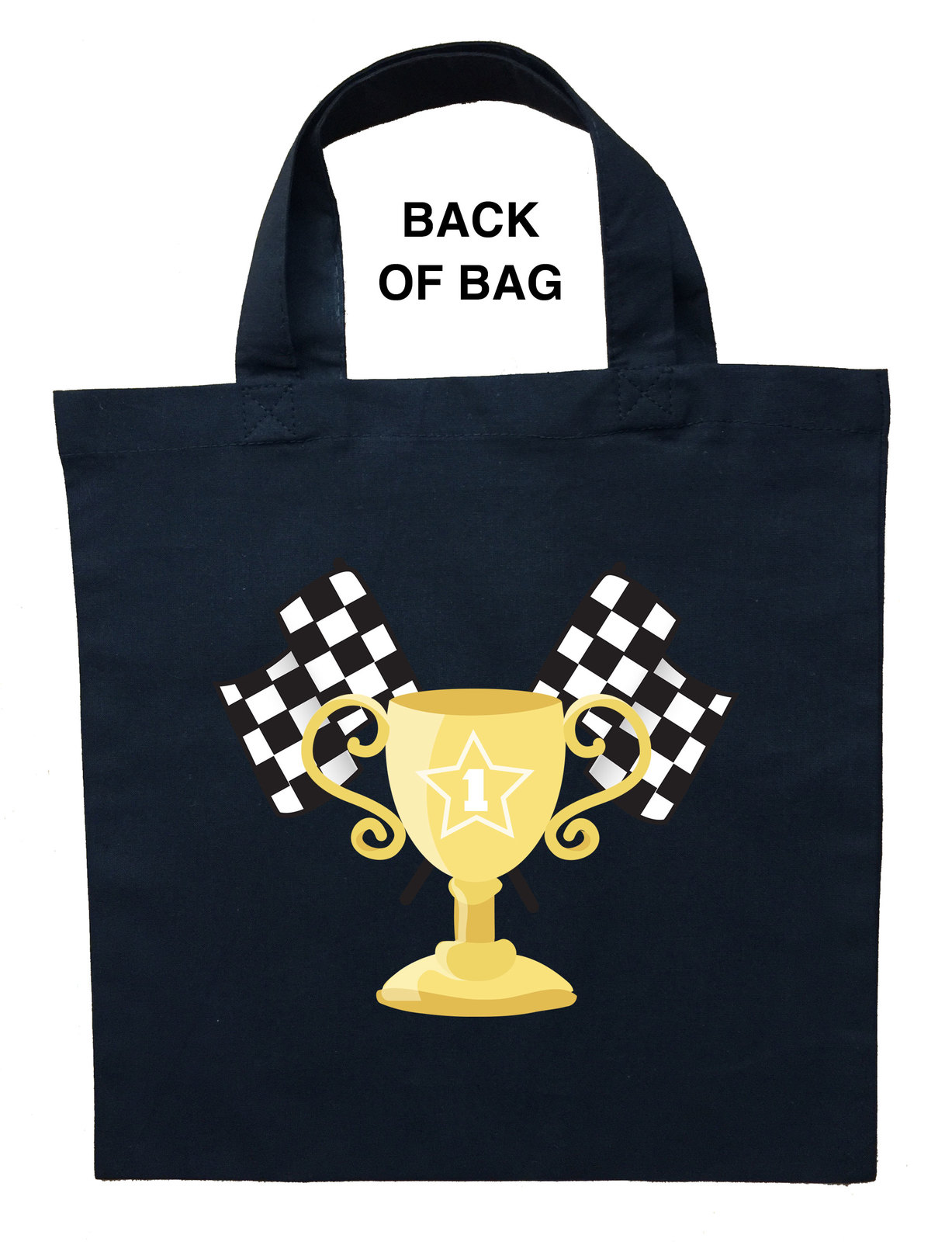 Race Car Driver Trick or Treat Bag, Personalized Race Car Driver Halloween Bag