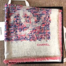 CHANEL Paris Scarf Scarves Stole Shawl Cashmere Silk Women Luxury Auth r... - $1,199.50