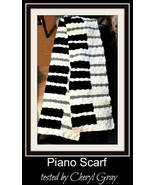 Piano Keyboard Scarf C2C Crochet Pattern Corner to Corner Graph & Writte... - $4.50