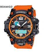 Men Watch Dual Display Led Electronic Sports Analog Digital New Watch Qu... - $22.99