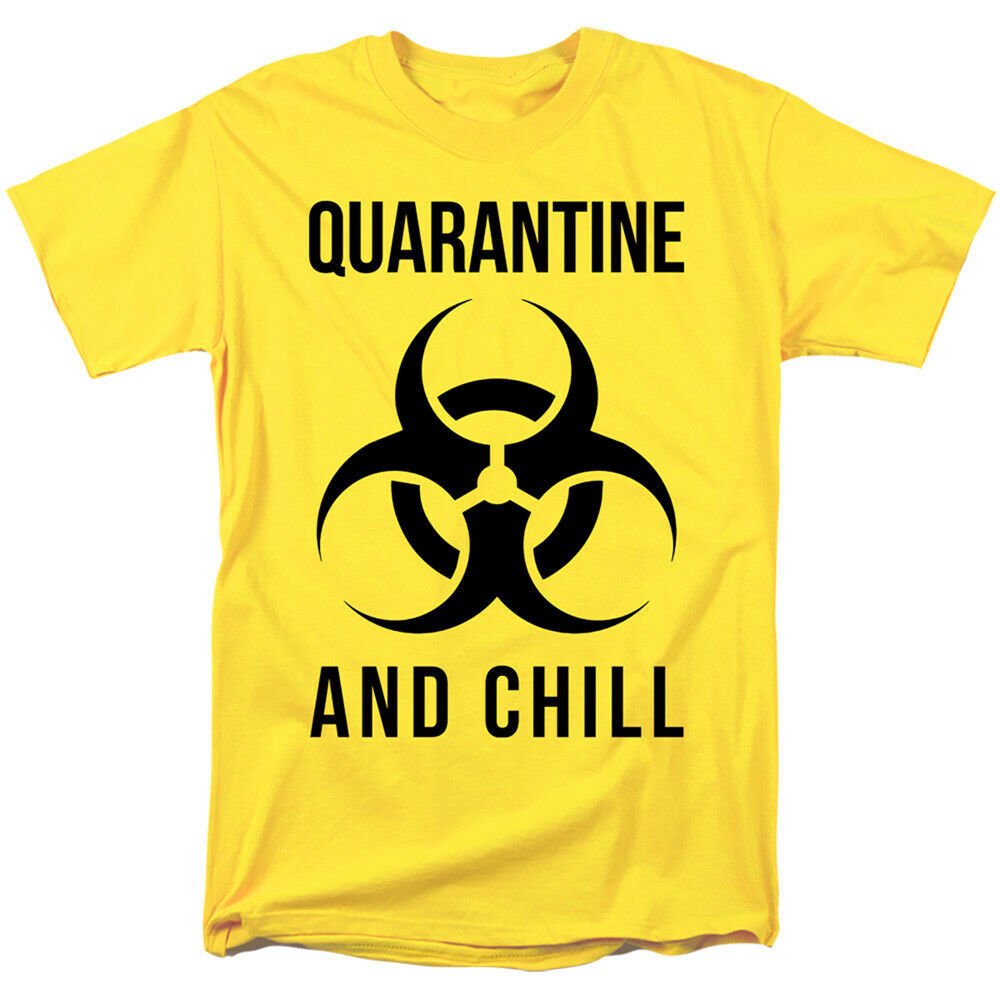 Primary image for 2020 Virus Outbreak Social Distance Quarantine And Chill Bio Hazard Adult Shirt