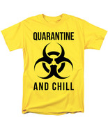 2020 Virus Outbreak Social Distance Quarantine And Chill Bio Hazard Adult Shirt  - €19,53 EUR - €24,66 EUR