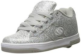 Heelys Split Sneaker, Silver/Disco Glitter, 5 M US Big Kid - $50.59
