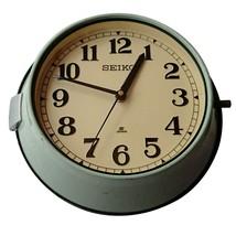 Antique 1980's Slave Maritime Clock Nautical Ship Seiko Quartz Made in J... - £57.30 GBP