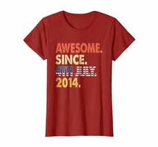 Funny Happy birthday T-Shirt - Awesome Since USA Flag 4th July 2014 Shirt 4th Bd - $19.95+