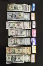 28.600 Prop Money Replica 7 Stack New Style All Full Print For Movie Video Etc. - $140.99