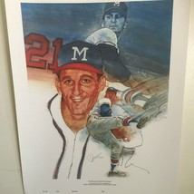 Signed Cliff Spohn Warren Spahn MLB Milwaukee Brewers Baseball 1984 Sports Print - $296.99