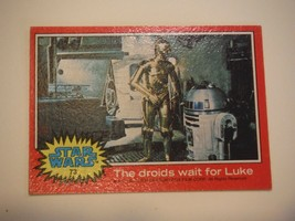 Star Wars Series 2 (Red) Topps 1977 Trading Card # 73 The Droids Wait For Luke - $1.49