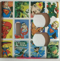 Comic Superhero USPS Stamps Light Switch Outlet wall Cover Plate Home Decor image 4