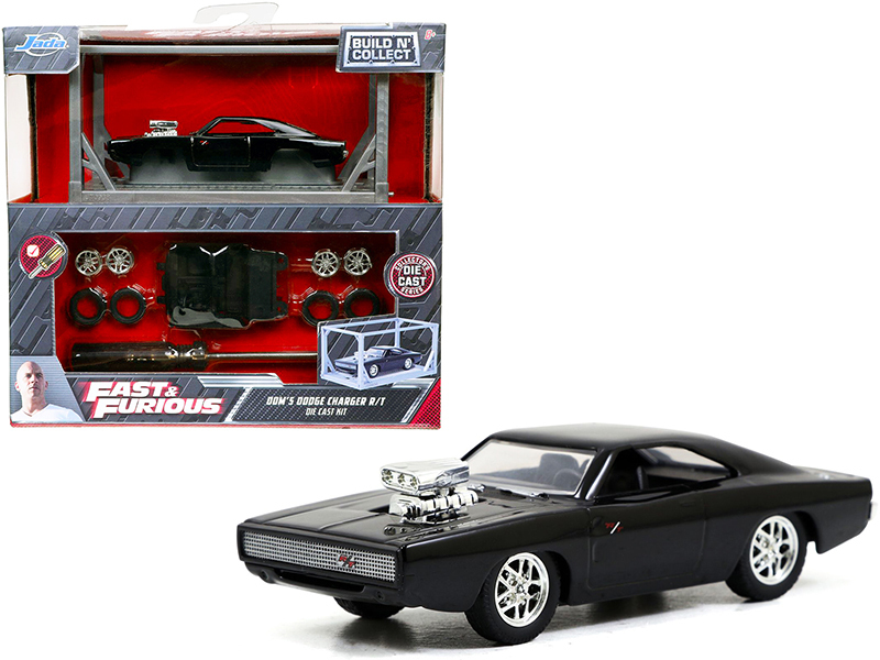 Model Kit Dom's Dodge Charger R/T Black Fast & Furious Movie Build N' Collect 1/ - $19.59