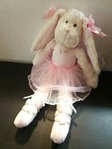 Lil Bunny TuTu Pink White Rabbit Ballerina Bearington Collection Plush 1... - $14.82