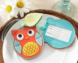 """Owl"" Be Seeing You Owl Luggage Tag Wedding Favor Reception Cute Funny G... - $6.32"