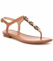 MICHAEL Michael Kors Mahari Leather Thong Sandals, Acorn Size 7.5 40S7MH... - $99.95