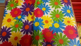 "Superior Tablecloth Vinyl Flannel Back, 60"" x 80"" OVAL (6 ppl) COLORFUL ... - $19.79"