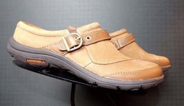 """Women's Merrell """"Oak"""" Brown Leather Casual Cool Slide Loafer Sz. 36/6 MINTY! - $49.01"""