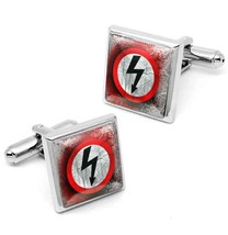 Marilyn Manson Gothic Shock Rock Arrow Symbol Silver Glass Cufflink Set ... - $32.39