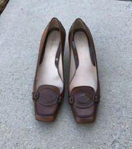 Cole Haan Womens Brown Leather Heel Pump Shoes Size 7B Brazil - $39.40
