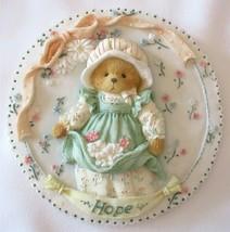 Enesco Cherished Teddies HOPE Mini Plate Hanging Plaque 1994 Priscilla Hillman - $7.95