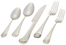 Reed & Barton Sea Shells 18/10 Stainless Steel 5-Piece Place Setting, Se... - $25.65