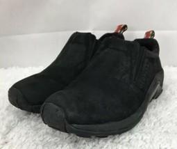 Merrell Jungle Moc J60826 Midnight Black Suede Slip On Loafer Men's US Size 9M - $33.66