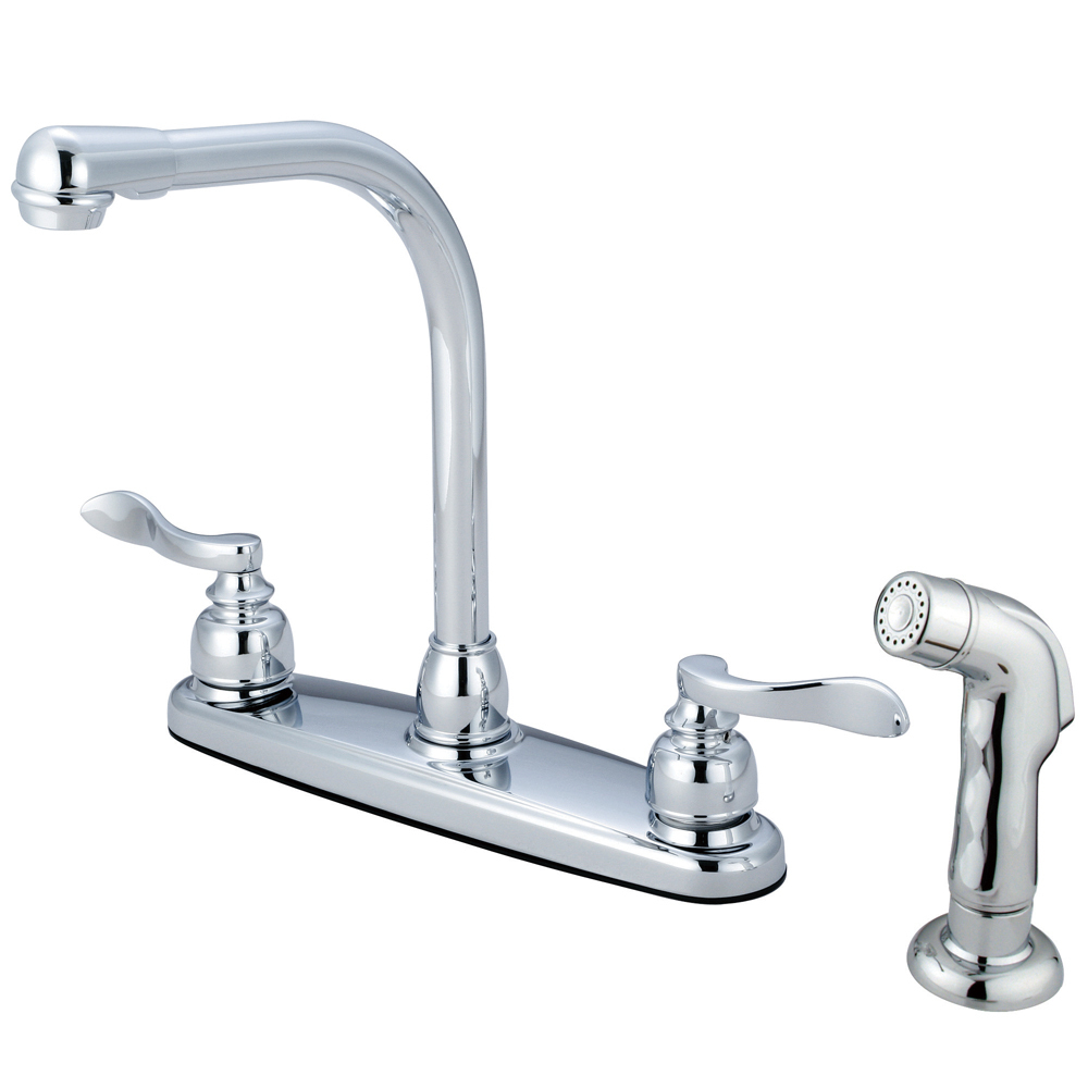 "Primary image for French Double Handle 8"" Centerset High-Arch Kitchen Faucet,Matching Sprayer"