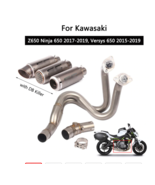 Motorcycle Exhaust Pipe Slip On 51 mm Front Tail Escape Versys 650 - $347.56
