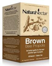 NaturaNectar Brown Bee Propolis, 60 Count