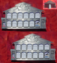 Two (2) K-12  pewter school house childs glass picture kids photo frame sets - $39.00